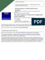 Degeneirate elliptik equations