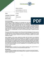 Economic-Integration D-Track FUBiS II 18 En
