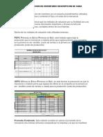 Metodo de Valuacion de Inventario Descripcion de Cada Metodo