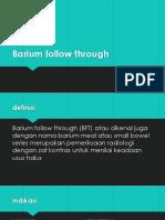 Barium Follow Through