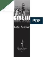 Gilles Deleuze - Cine III. Verdad y tiempo. Potencias de lo falso [PRÓLOGO]