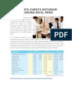 Cuánto Cuesta Estudiar Medicina en El Perú
