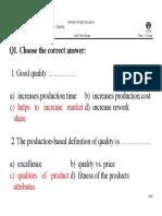 Solution of Exam MidTerm Quality Management 2016