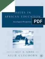 [Ali a. Abdi, Ailie Cleghorn] Issues in African Ed(B-ok.org)