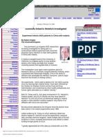 """Scientists Linked to Heimlich Investigated"" by Robert Anglen, Cincinnati Enquirer 2/16/03"