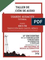 Usando Audacity 11encuentrornma Larioja2014