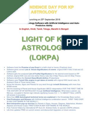 Best Kp Astrology software, free download