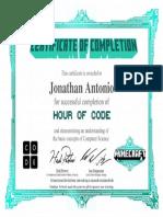 hour of code- jonathan
