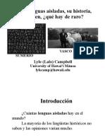 2c Las lenguas aisladas que¦ü es raro.pptx