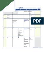 Calendario de Pruebas Agosto