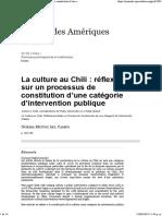 La Culture Au Chili