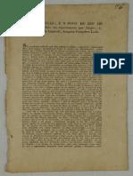 Folheto - A Constituição, e o Povo Do Rio de Janeiro Offendido No Requerimento Que Dirigio, á Sua Magestade Imperial, Joaquim Gonçalves Ledo
