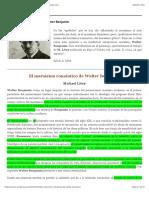 El marxismo romántico de Walter Benjamin | Marx desde Cero