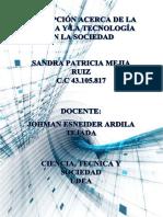 Texto Argumentativo Ciencia, Tecnologia, Sociedad
