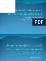 Adaptarea elevilor din clasa a IX-a la învățământul (1).ppt