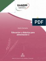 Armonia y Concierto de Inteligencias Para Educacion y Didactica de La Alimentacion 15 Agosto 2018