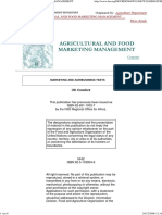 Agricultural and Food Marketing Management