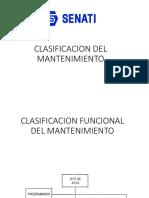 Clasificación Funcional Del Mantenimiento