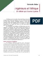 Didier - 2002 - Les Ingénieurs Et l'Éthique