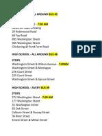 Dedham Bus Routes