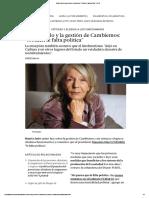 Beatriz Sarlo y La Gestión de Cambiemos_ _A Macri Le Falta Política_ _ Perfil