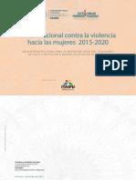 Plan Nacional Contra La Violencia Hacia Las Mujeres Set 2015
