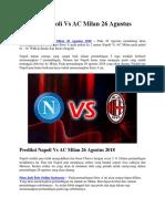 Prediksi Napoli vs AC Milan 26 Agustus 2018