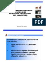 Review Regulations IPTS