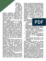 Analisis Al Proyecto Educativo Nacional
