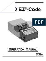 Ilco Ez Code Operation Manual