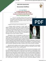 Juan Pablo II, La Inmaculada en La Visión Espiritual Del P