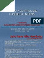 Manejo y Control de Concreto en Obra