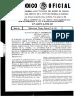 AD Periodico Oficial Plan Municipal de Desarrollo Urbano Centr, Tabasco