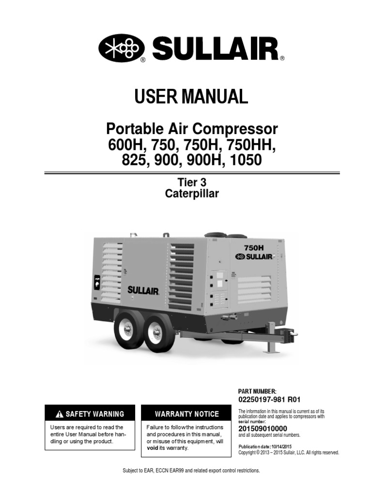 Sullair 900RH User Manual 1050 | Valve | Personal Protective EquipmentScribd