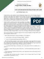 El Tema Mariano en Los Escritos de Francisco de Asís