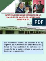 Plan de Incentivos Municipales Cajamarca