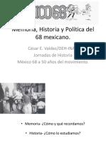 Memoria historia del 68 mexicano