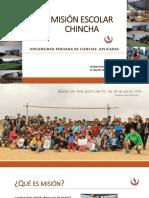 Misión Escolar UPC Chincha Agosto2018