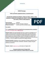 TDR Actualización del Manual de Madres y Padres de niñas y niños en edad temprana y rotafolio de estrategias para valorar y estimular el desarrollo de la niña y el niño en edad temprana