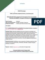 TDR Sistematización de los programas de Consejerías de las Comunidades Educativas del MINED y Consejerías Familiares del MIFAN