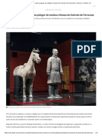 Americano Arranca e Rouba Polegar de Estátua Chinesa Do Exército de Terracota _ Ciência e Saúde _ G1