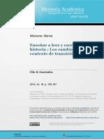 Massone - Enseñar a leer y escribir en Historia.pdf