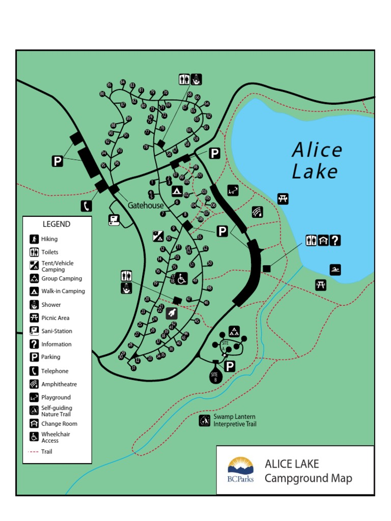 alice lake campsite map Alice Lake Camping alice lake campsite map