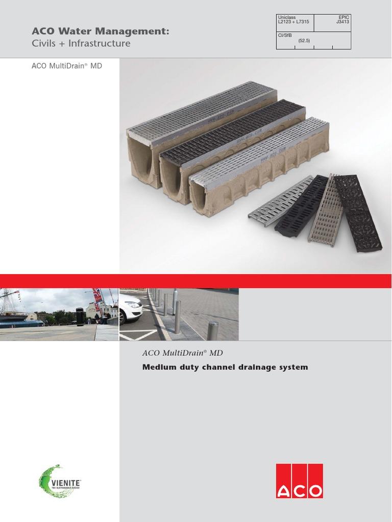 Aco Multidrain Md Brochure Drainage Steel