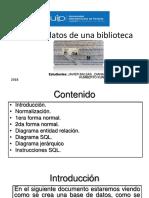 Base de Datos de Una Biblioteca