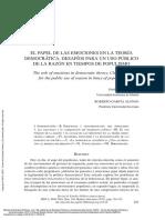 Revista de Estudios Políticos, Núm 168 ---- (El Papel de Las Emociones en La Teoría (...))