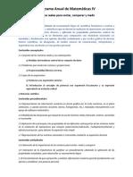 Programa Anual de Matemáticas IV 2018