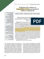 Problemas ético clínicos en hemodiálisis crónica
