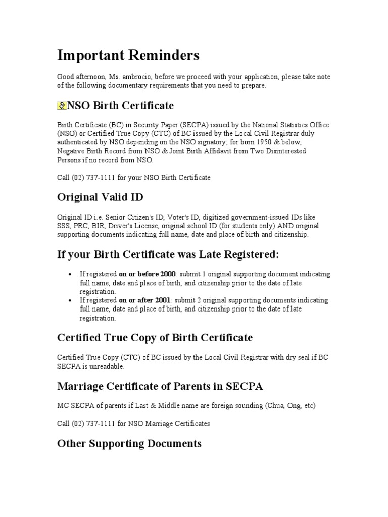 Passport Birth Certificate Government And Personhood