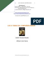 Terrones Benitez - Los 21 Temas del Companero mason.pdf